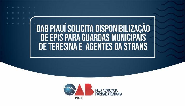 OAB PI solicita disponibilização de EPIs para Guardas Municipais  Teresina