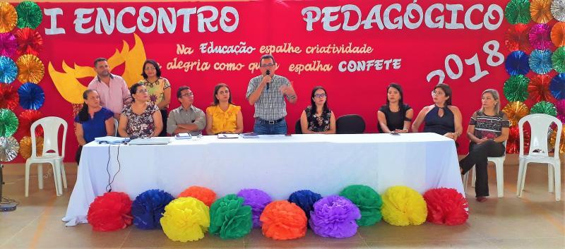 Secretaria de Educação de Joaquim PIres Realiza o I Encontro Pedagógico de 2018.