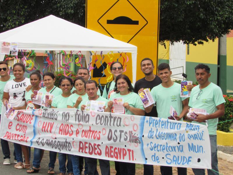 Secretaria de Saúde de Lagoinha do Piaui realiza Blitz de campanha com distribuição de preservativos