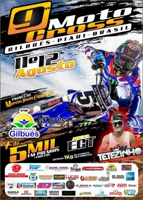 Vem aí 9º Motocross de Gilbués Piauí