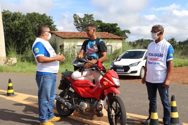 Prefeitura de Miguel Leão intensifica blitz educativa na entrada da cidade