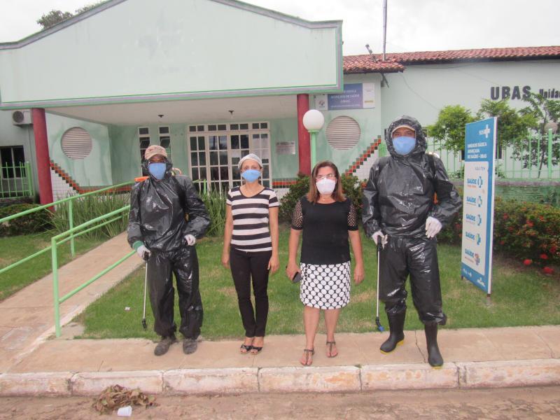 Prefeitura realiza sanitização de espaços públicos em São João do Arraial
