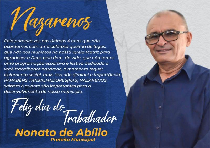 Município de Nazaré do Piauí não comemora Dia do Trabalhador