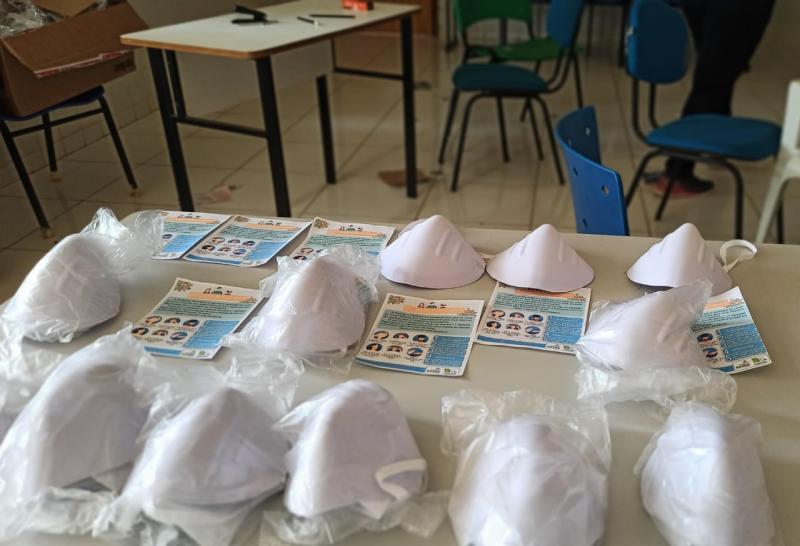 5.200 máscaras são distribuídas para a População de Landri Sales