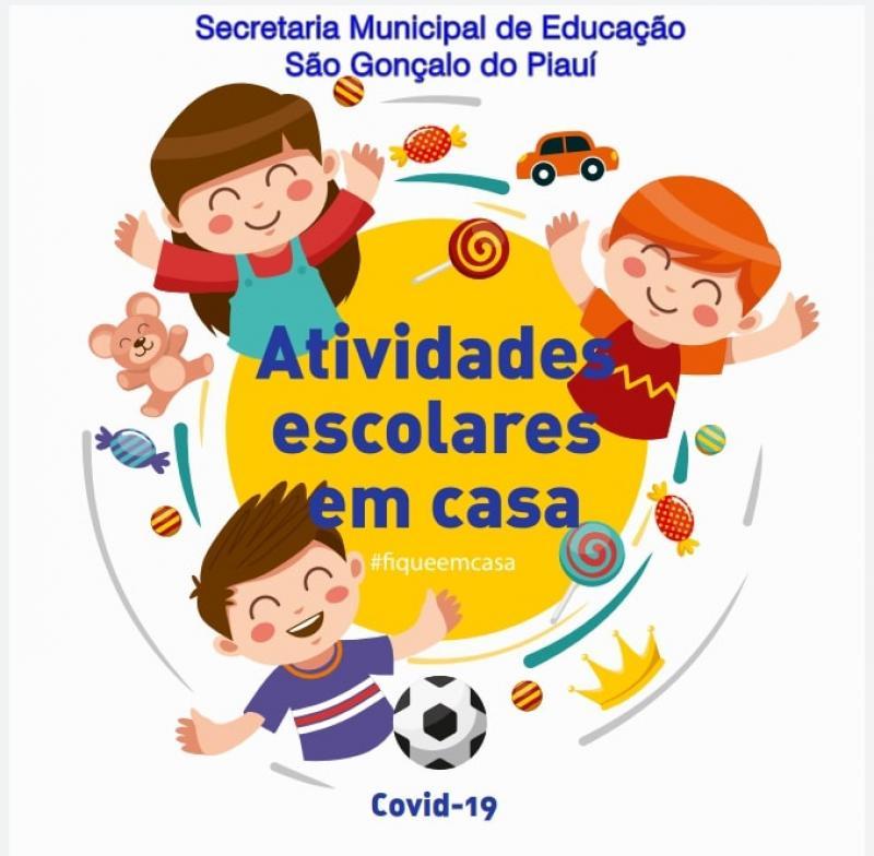 São Gonçalo do Piauí: Alunos da Rede Municipal recebem atividades escolares