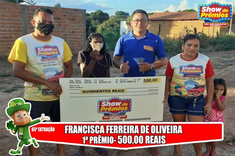 Ganhadores da 65° extração do show de prêmios São João dos Patos da sorte