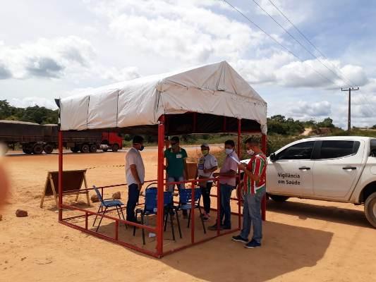 Prefeitura instala barreiras sanitárias nas entradas de Aliança do Gurgueia