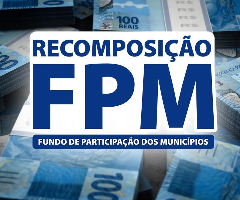 2ª parcela da recomposição do FPM cai nesta quinta; veja valores