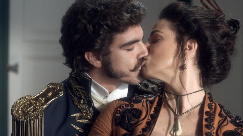 Novo Mundo: Benedita seduz e beija Dom Pedro