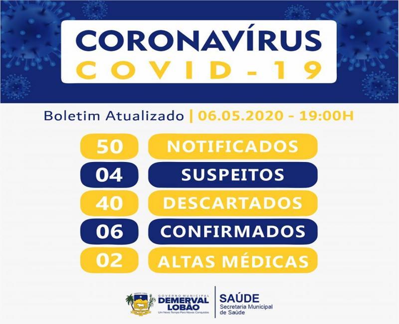 Demerval Lobão tem mais um caso confirmado da Covid-19
