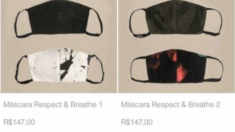 Marca de moda vende máscaras a R$147,00 e recebe enxurrada de críticas