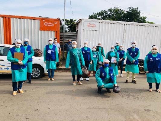 Vigilância Sanitária realiza ação de prevenção ao covid-19 na Ceasa/Timon