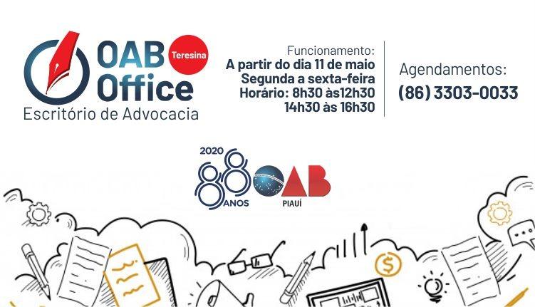 Confira: OAB Office funcionará em novo horário