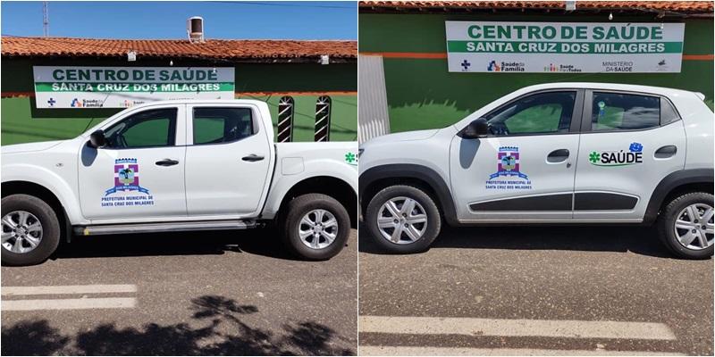 Prefeitura de Sta Cruz dos Milagres adquire dois novos veículos para Saúde