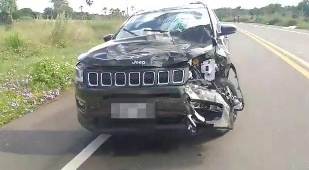 Colisão entre carro e moto deixa homem morto na BR 316