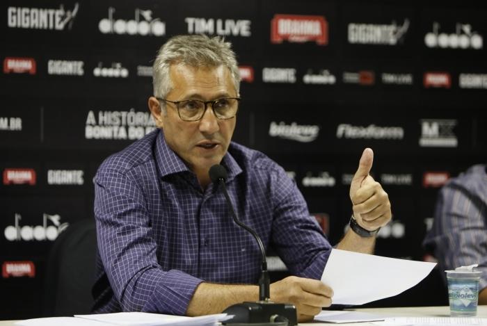 Presidente do Vasco, Alexandre Campello, em coletiva de imprensa - Foto: Rafael Ribeiro / Vasco