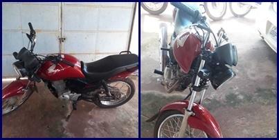 Polícia Militar recupera moto com registro de roubo/furto em Campo Largo-PI