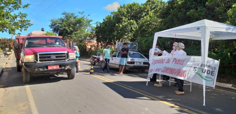 Prefeitura de Lagoinha do Piauí realiza blitz de combate ao coronavírus