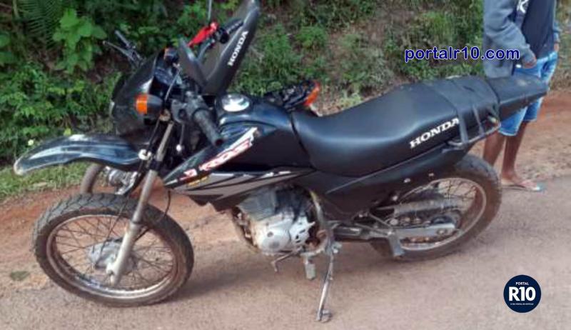 PM-PI recupera moto Bros 150 com chassi raspado em N. Sra. dos Remédios-PI