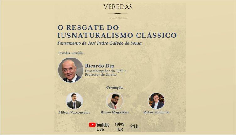 """Live """"O Resgate do Iusnaturalismo Clássico"""" acontecerá nesta terça-feira"""