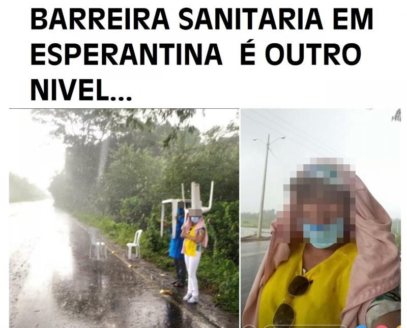 """Barreira """"Sanitária"""" de Esperantina vira memes na web"""