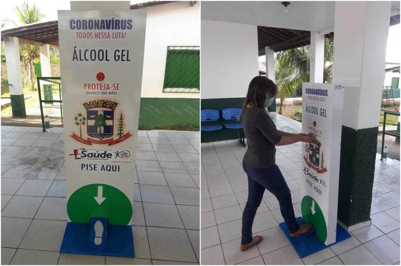 Coronavírus: Prefeitura de Cajazeiras adquire dispensador de álcool gel
