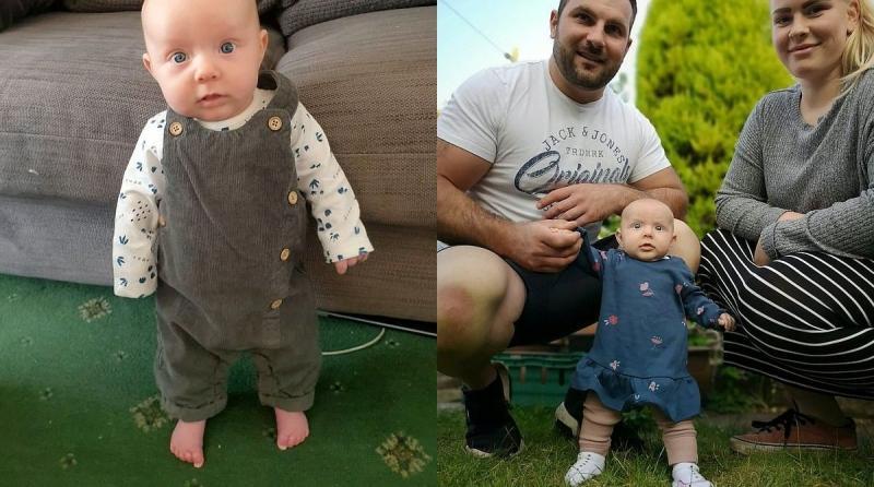 Bebê de apenas 2 meses fica em pé em caso raríssimo