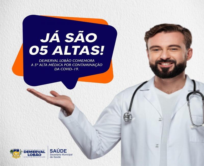 Covid-19 | Demerval Lobão comemora mais uma alta médica