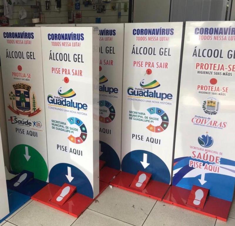 Empresa divulga nota sobre fabricação de totem para álcool em gel