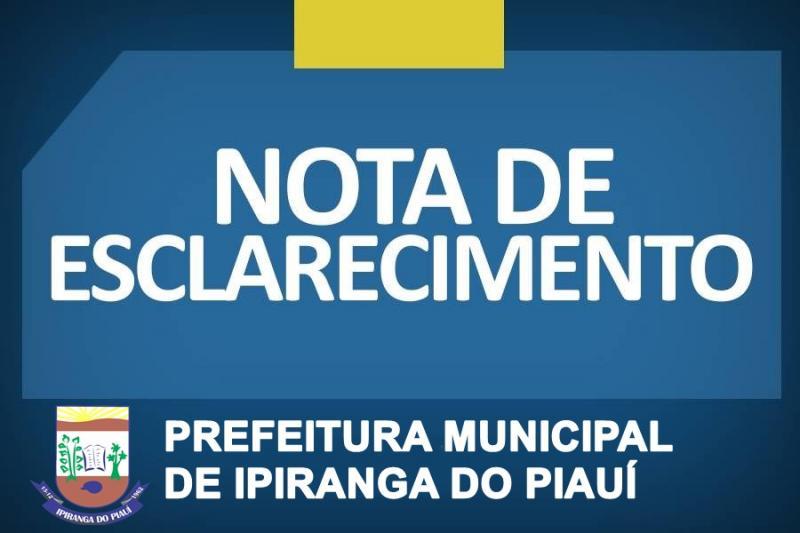 SEMED divulga nota de esclarecimento à população Ipiranguense