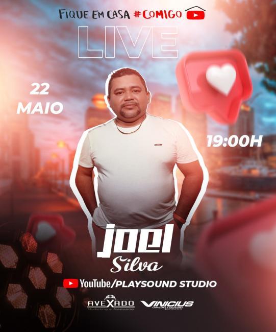 Cantor Joel Silva realizará live dia 22 de maio