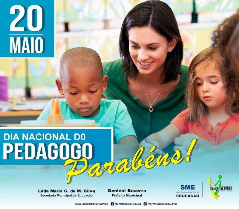 Prefeitura de Joaquim Pires parabeniza a todos os Pedagogos pelo seu dia
