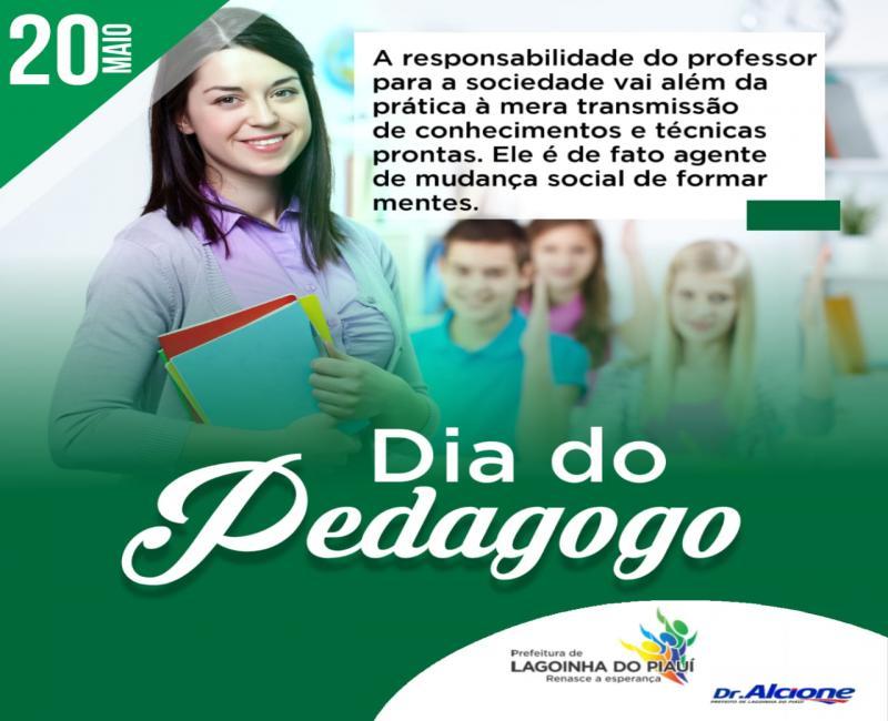Prefeitura de Lagoinha do Piauí parabeniza a todos profissionais pedagogo