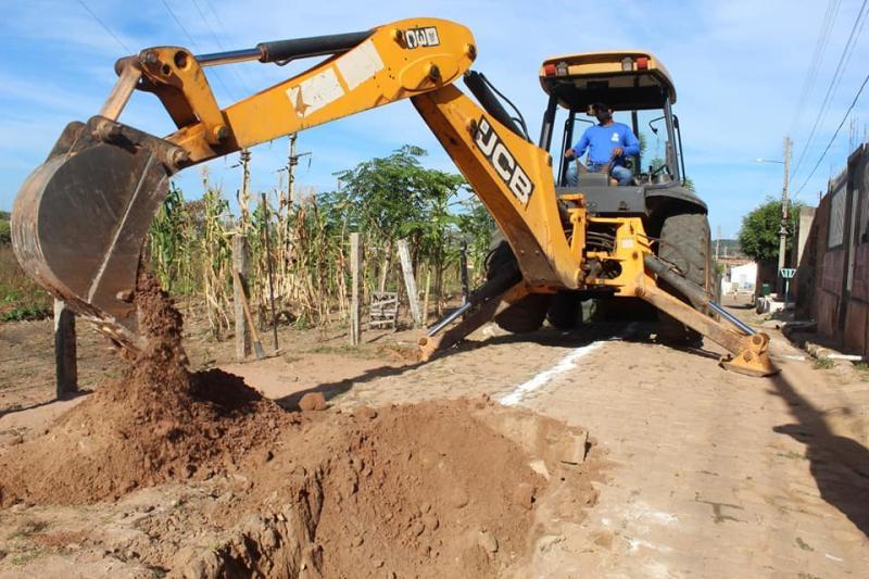 SAAE inicia obras da rede de esgotamento na Vila São José em Oeiras