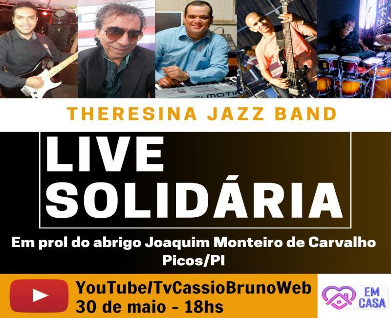 Theresina Jazz Band realiza live solidária em prol do abrigo de idosos