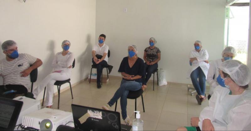 Covid-19: profissionais da Saúde de São João do Arraial recebem treinamento