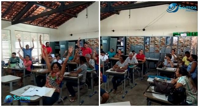 Greve dos professores no Piauí ganha apoio do Sinte, em Amarante; veja!