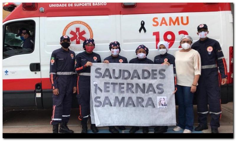 Homenagem a Enfermeira Samara Aline Félix