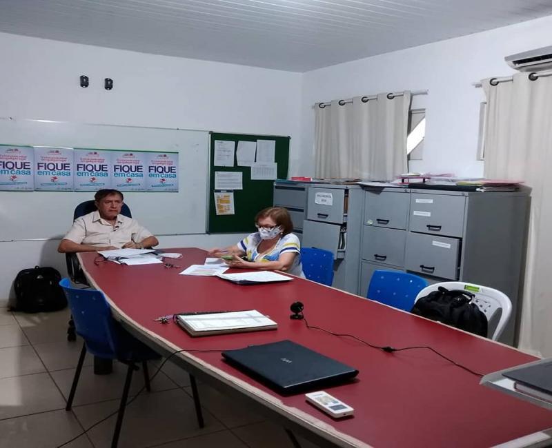 Prefeito e Sec.de Saúde participam de Videoconferência sobre COVID-19