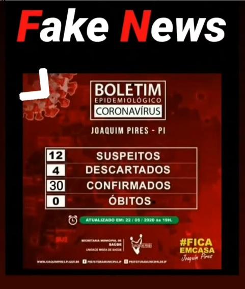 Prefeitura de Joaquim Pires esclarece casos de fake news sobre Covid-19