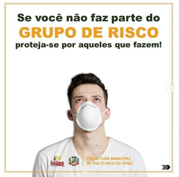 Prefeitura de Pau D'Arco reforça incentivo ao uso de máscaras de proteção