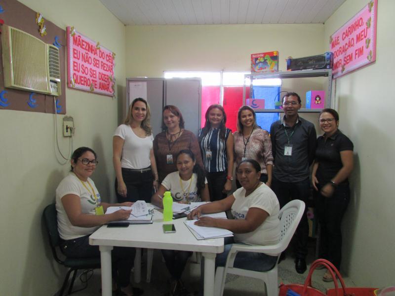 Consultor do MDS juntamente com multiplicadora do PCF realiza visitas ao PCF de Lagoinha do Piaui