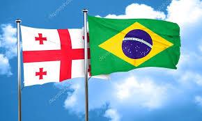 O embaixador David Salomônia e a embaixatriz Olena Terentieva que estão no Brasil desde agosto de 2017, registram a importante data nacional da Geórgia