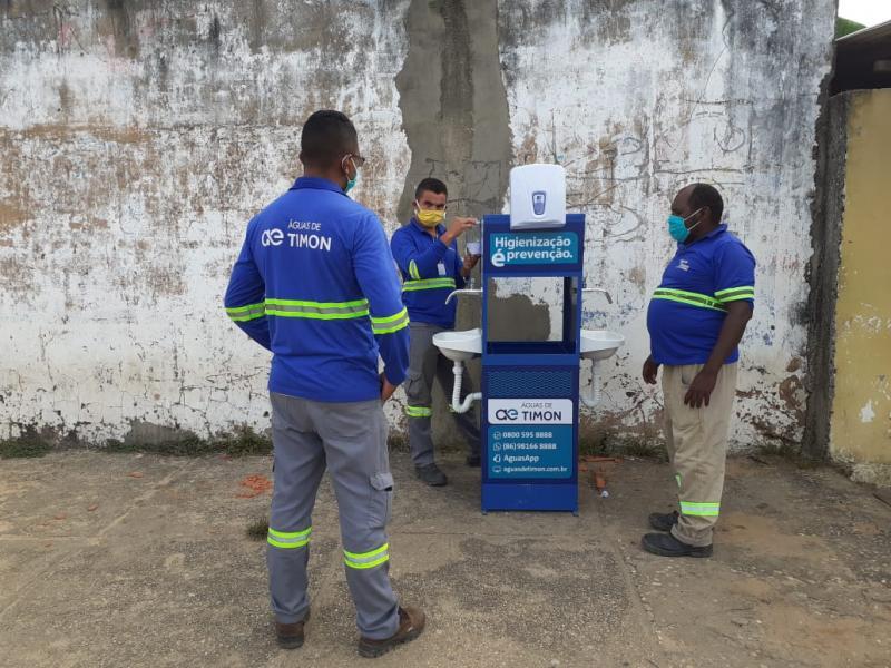 Timon: concessionária instala pia com água e sabão em agência da CEF