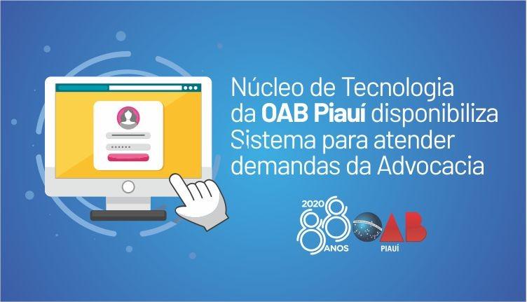 Núcleo de Tecnologia da OAB PI disponibiliza Sistema para atender demanda