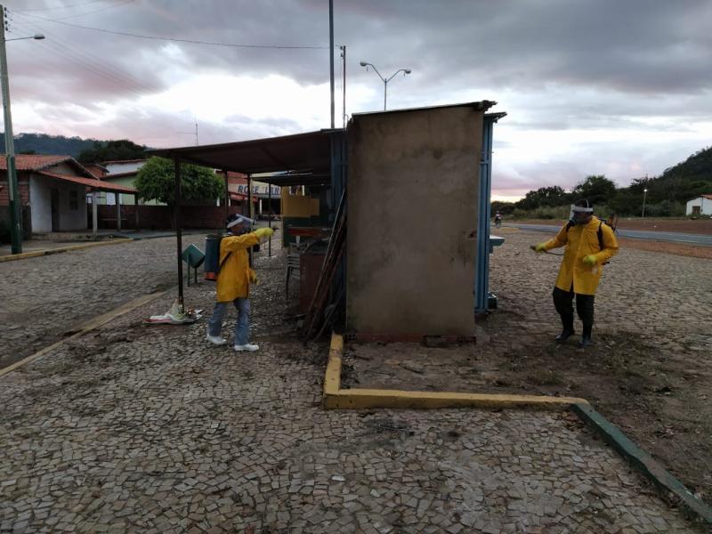 Saúde de Lagoinha do Piauí realiza sanitização de vias publicas
