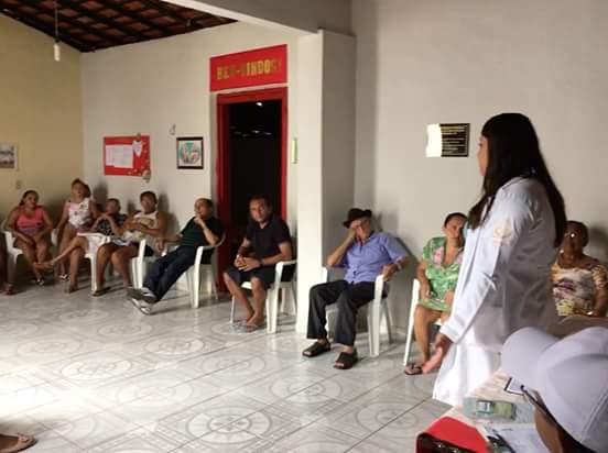 Amarante : NASF e ESF realizam palestra sobre alimentação saudável