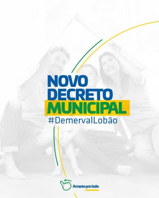 Governo municipal de Demerval Lobão baixa novos decretos sobre a pandemia