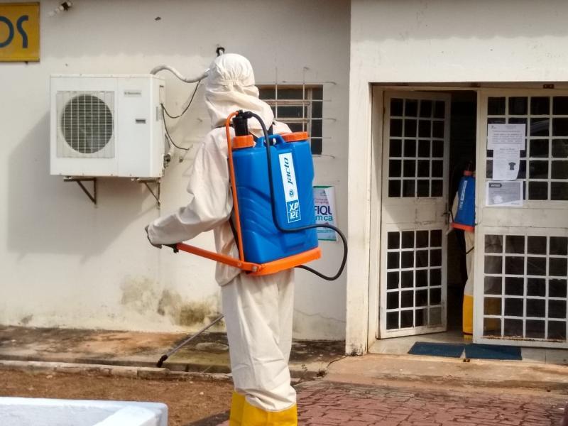 Secretaria de Saúde faz desinfecção dos prédios de Colônia do Gurgueia