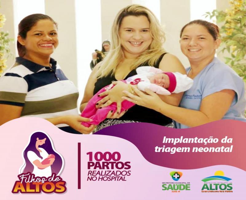 Prefeitura de Altos implanta triagem neonatal em instituto de Saúde